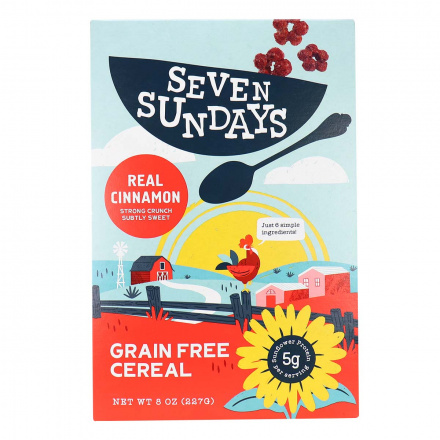 Front of Seven Sundays Grain Free Cereal Cinnamon