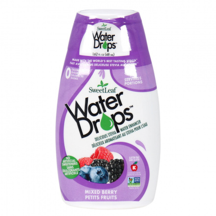 Front of Sweetleaf Mixed Berry Water Drops