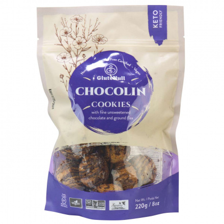 GluteNull Grain-Free Paleo Cookies Chocolin, 220g