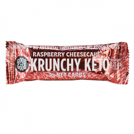 Good Good Krunchy Keto Raspberry Cheesecake Bar, 35g