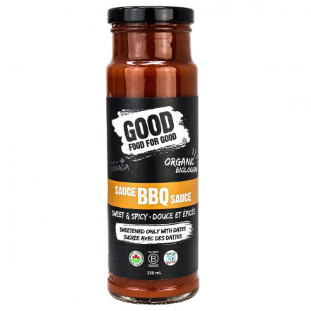 Front of Good Food For Good Paleo BBQ Sauce Sweet & Spicy, 250ml