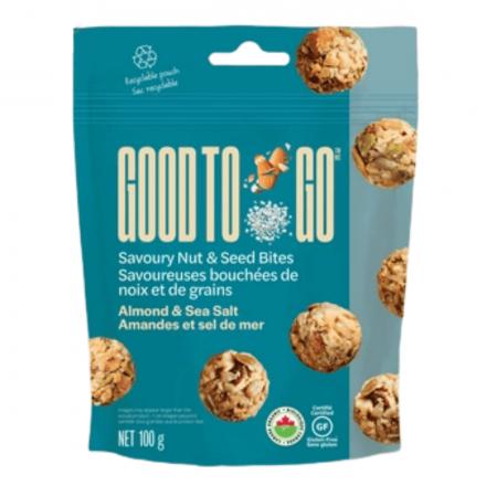 Good to Go Almond & Sea Salt Savoury Nut & Seed Bites, 100g