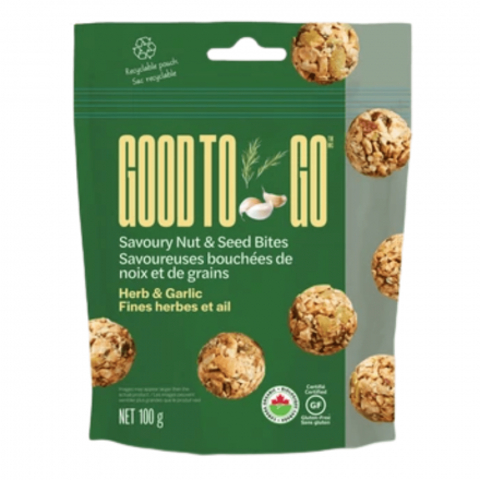 Good to Go Herb & Garlic Savoury Nut & Seed Bites, 100g