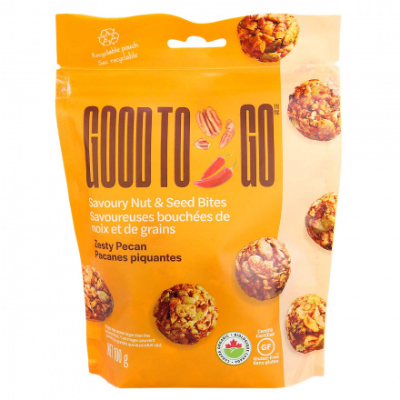 Front of Good to Go Zesty Pecan Savoury Nut & Seed Bites, 100g