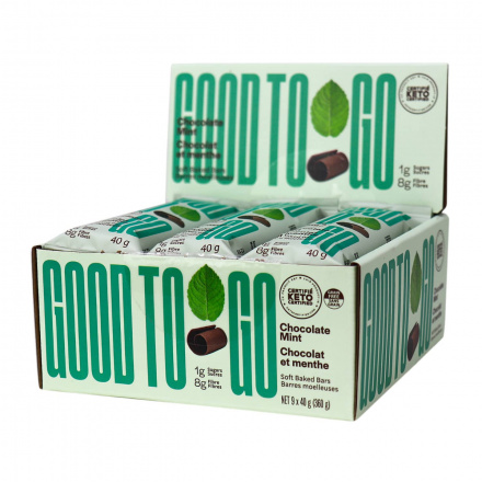 Good To Go Keto Snack Bars Chocolate Mint, 9 Bar Pack