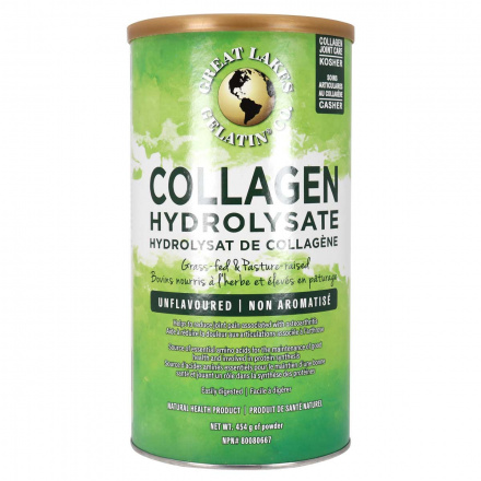 Front of Great Lakes Gelatin Collagen Hydrolysate (Beef Kosher), 454g