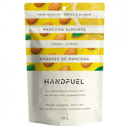 Handfuel Dry Roasted Marcona Almonds with Lemon and Sea Salt, 150g