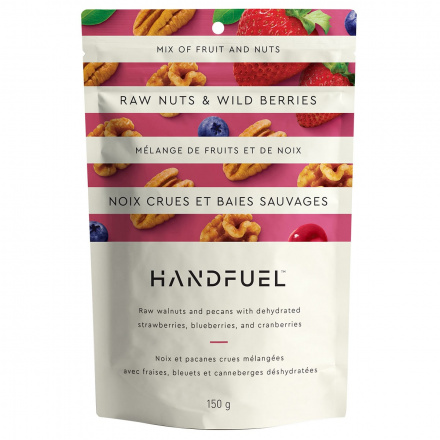 Handfuel Raw Walnuts and Pecans with Wild Berries, 150g