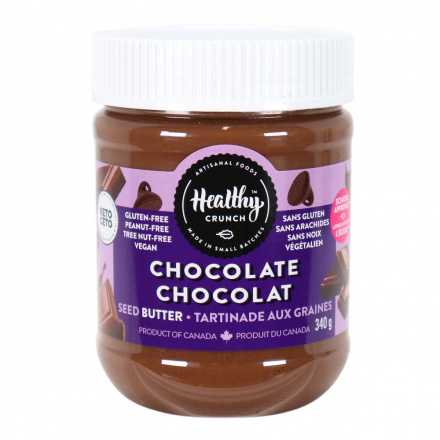 Front of Healthy Crunch Chocolate Seed Butter, 340g