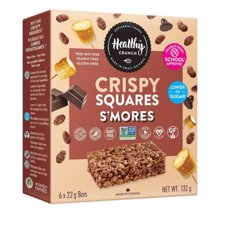 Front of Healthy Crunch S'mores Crispy Squares, 6 bars