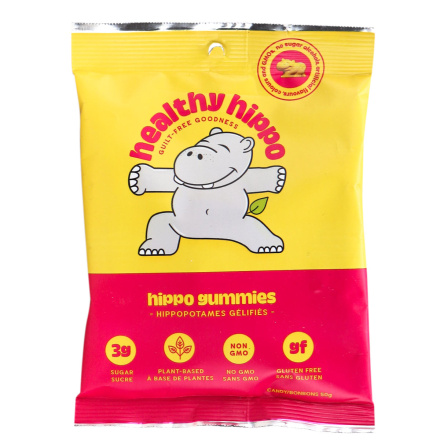 Front of Healthy Hippo Low Sugar Hippo Gummies, 50g
