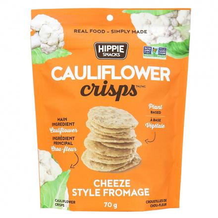 Hippie Snacks Cauliflower Crisps Cheeze, 70g