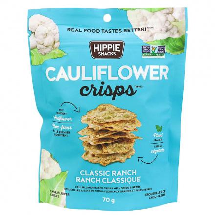 Hippie Snacks Cauliflower Crisps Classic Ranch, 70g