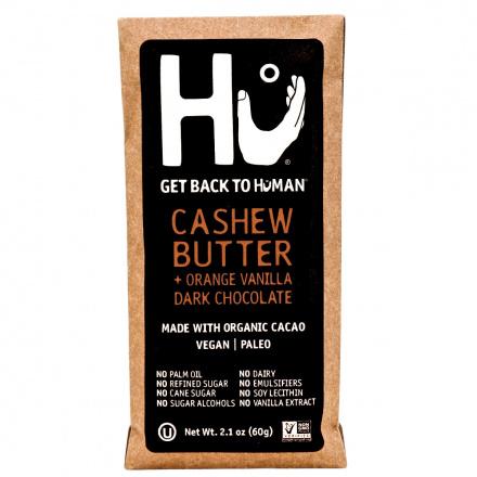 Front of Hu Cashew Butter & Orange Vanilla Dark Chocolate Bar, 60g