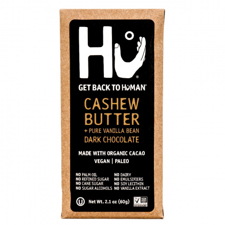 Front of Hu Cashew Butter & Pure Vanilla Bean Chocolate Bar, 60g