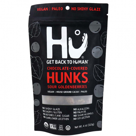 Hu Dark Chocolate Covered Sour Goldenberries Hunks, 113g