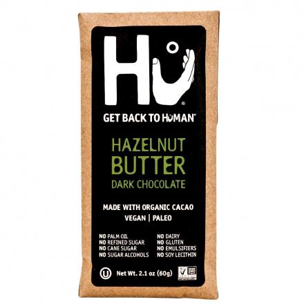 Front of Hu Hazelnut Butter Dark Chocolate Bar, 60g