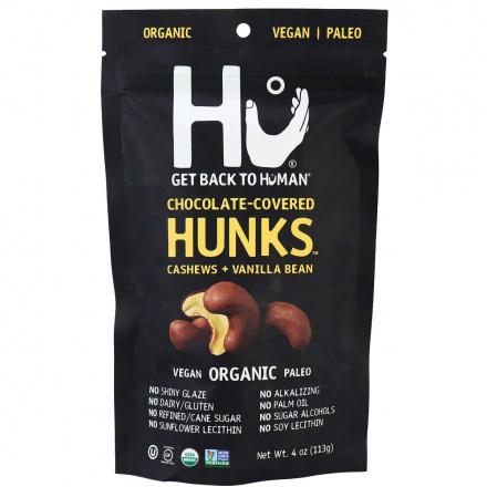 Hu Kitchen Dark Chocolate Covered Cashews + Vanilla Bean Hunks, 113g