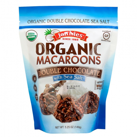Jennie's Organic Macaroons Double Chocolate with Sea Salt, 149g