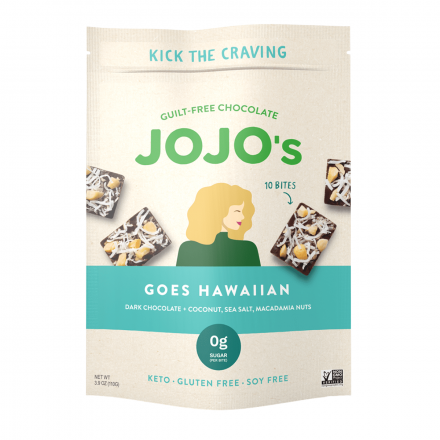 Jojo's Guilt-Free Chocolate Bites Goes Hawaiian Dark Chocolate Coconut, 110g