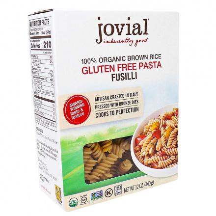 Front of Jovial Gluten Free Organic Brown Rice Pasta Fusilli, 340g