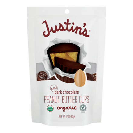 Front of Justin's Mini Dark Chocolate Peanut Butter Cups, 133g