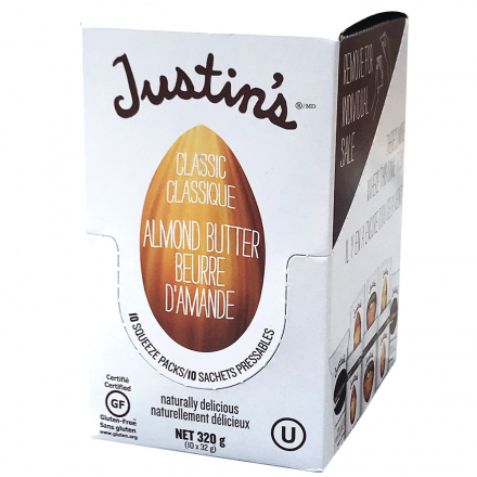 Justin's Classic Almond Butter Squeeze Pack, 10 Packs