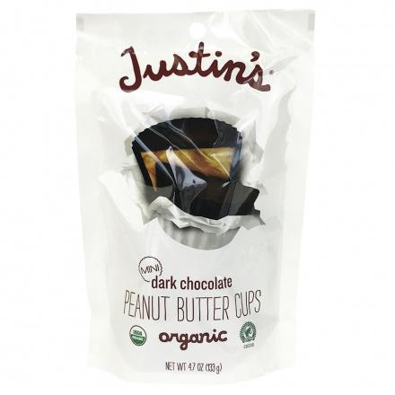Justin's Mini Dark Chocolate Peanut Butter Cups, 133g