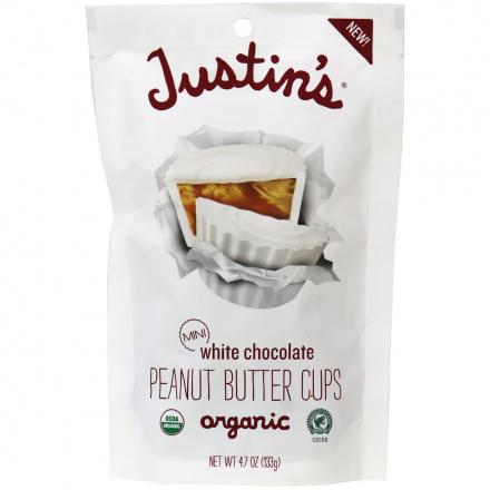 Justin's Mini White Chocolate Peanut Butter Cups, 133g