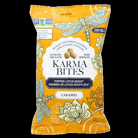 Karma Bites Gluten-Free Caramel Popped Lotus Seeds, 50g