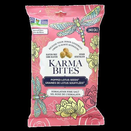 Karma Bites Gluten-Free Himalayan Pink Salt Popped Lotus Seeds, 50g