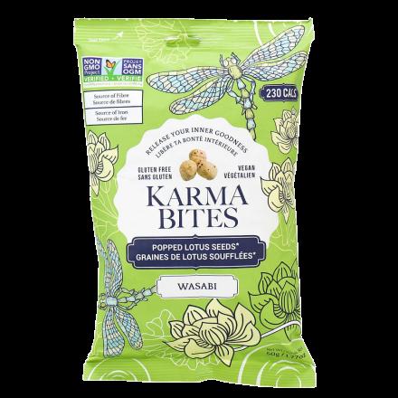 Karma Bites Gluten-Free Wasabi Popped Lotus Seeds, 50g