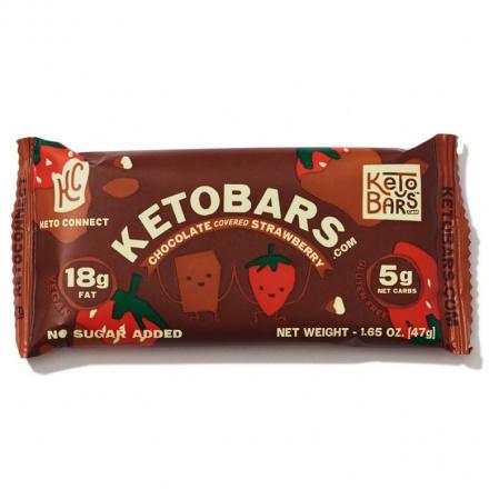 Keto Bars Chocolate Covered Strawberry, 1 bar