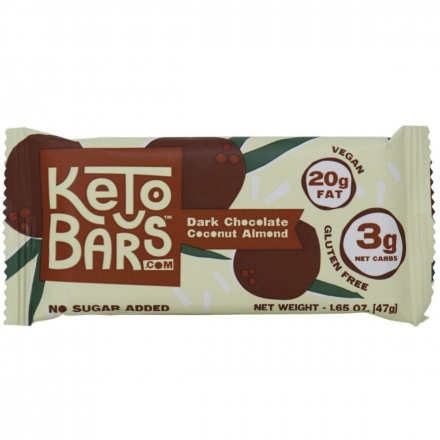 Keto Bars Dark Chocolate Coconut Almond, 1 bar