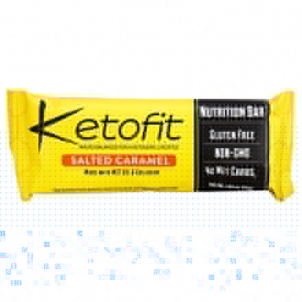 Front of Ketofit Salted Caramel Nutrition Bar with MCT Oil & Collagen, 1 bar