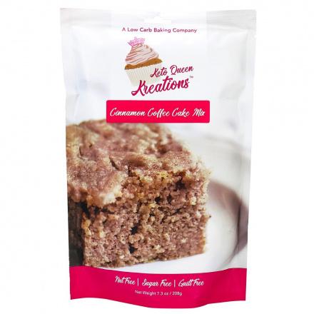 Keto Queen Kreations Sugar-Free Cinnamon Coffee Cake Mix, 208g