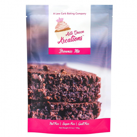 Keto Queen Kreations Sugar-Free Brownie Mix, 155g