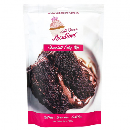 Keto Queen Kreations Sugar-Free Chocolate Cake Mix, 243g