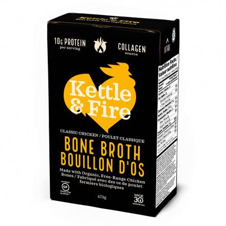 Front of Kettle & Fire Chicken Bone Broth, 480ml