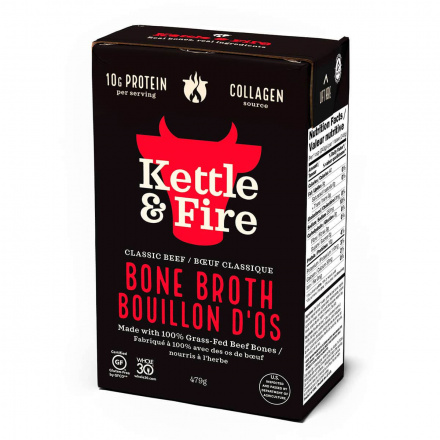Front of Kettle & Fire Grass-Fed Beef Bone Broth, 480ml