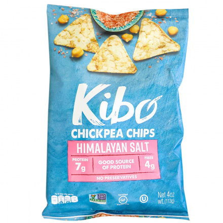 Front of Kibo Gluten-Free Chickpea Chips Himalayan Salt, 113g