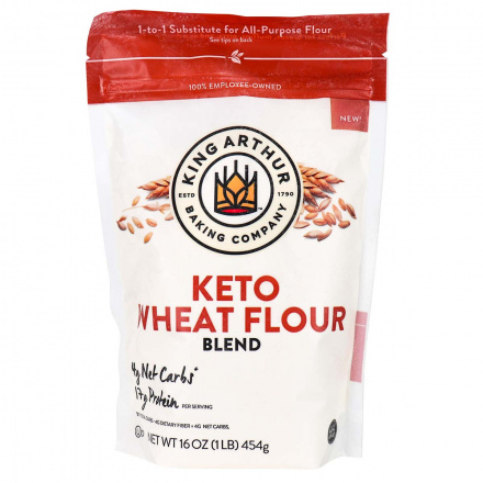 Front of King Arthur Baking Company Keto Wheat Flour Blend, 454g