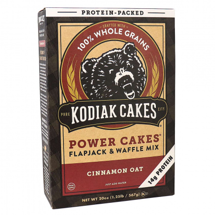 Front of Kodiak Cakes Power Cakes Cinnamon Oat Pancake & Waffle Mix, 567g