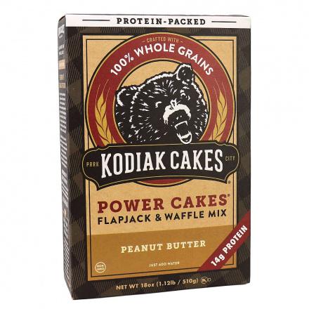 Front of Kodiak Cakes Power Cakes Peanut Butter Pancake & Waffle Mix, 510g