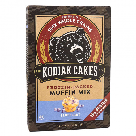 Front of Kodiak Cakes Blueberry Protein-Packed Muffin Mix, 397g