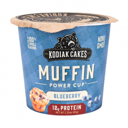 Front of Kodiak Cakes Mountain Blueberry Minute Muffin Cup, 65g