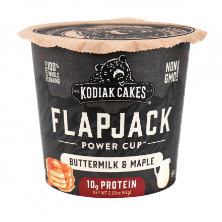 Front of Kodiak Cakes Buttermilk & Maple Pancake Cup, 61g