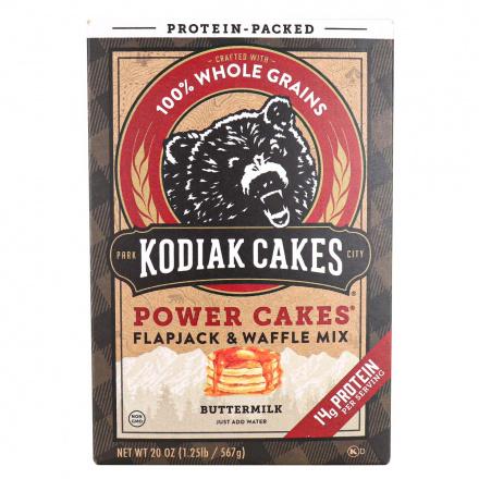 Front of Kodiak Cakes Power Cakes Buttermilk Pancake & Waffle Mix, 567g