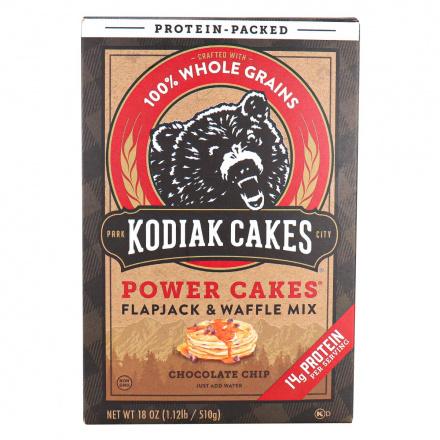 Front of Kodiak Cakes Power Cakes Flapjack & Waffle Mix Chocolate Chip, 510g