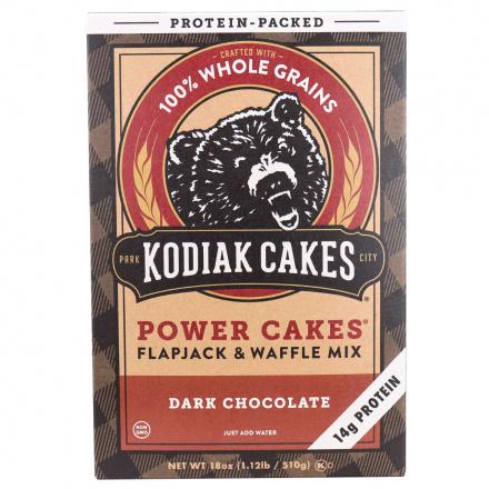 Front of Kodiak Cakes Power Cakes Dark Chocolate Pancake & Waffle Mix, 510g